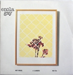 "Enola Gay's singlr ""Döda djur"". Note the Andy Warhol credit at lower left."
