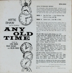 "The reverse of the ""Any Old Tiome"" EP with the broken chain of clock faces."