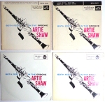"Artie Shaw's ""Both Feet in the Groove"" EPs. Courtesy of Giy Minnebach."
