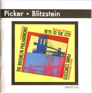 The re-issue cover for the Picker-Blitzstein CD.