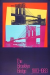 Warhol's poster for the Brooklyn Bridge Centenary 1983.
