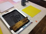 Silkscreening the first cover.