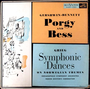 "Cover of the ""Porgy & Bess / Symphonic Dances"" album."