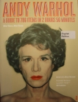 "The catalogue from Moderna Museet's exhibition ""Andy Warhol: 706 Items in 2 Hours 56 Minutes""."