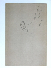 """Drawing of Steven Bruce's ear in """"Play Book of You S Bruce 2:30 -  4:00""""."""