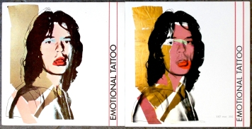 The 1983 (left) and 2014 (right) issues of Emotional Tattoo.