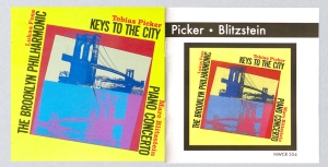 Picker/Blitzstein: The original CD release (left) and the re-issue cover (right)