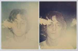 Andy Warhol's Polaroid pictures of John Lennon. Circa 1969.