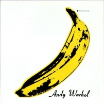 The front cover of the stereo version. Note the lower positioning of the banana.