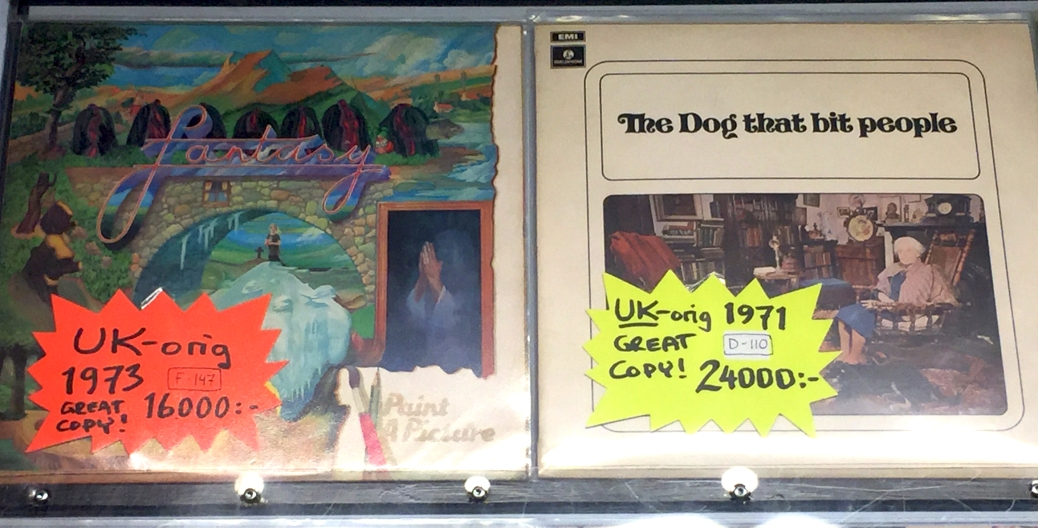 "Fantasy's 1973 Polydor album ""Paint a Picture"" and The Dog that Bit People's 1971 Parlophone album of the same name."