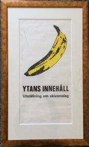 Poster from Nationalmuseet's exhibition, signed by Andy Warhol.