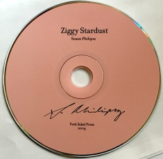 "Susan Philipsz' ""Ziggy Stardust"" CD autographed by her."