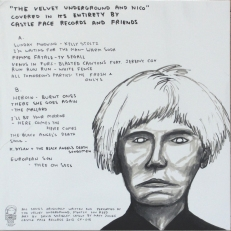 The rear cover with Shrigleys portrait of Warhol.