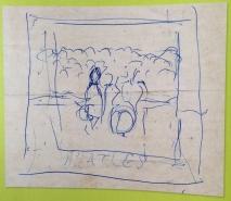 """Paul's first """"Pepper"""" sketch."""