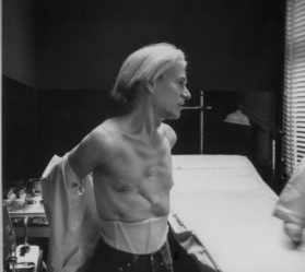 Photo of Warhol taken by Robert Levin in May of 1981.