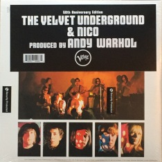 """Velvet Underground & Nico"" 50th anniversary version with sticker over Eric Emerson's ""torso""."