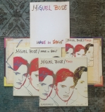 The complete set, including the booklet, which contains a fold-out poster of Warhol's Bosé portraits.