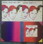 """The """"Made In Spain"""" promotional folder showing the """"Made In Spain"""" LP, the white label 12"""" and 7"""" Fuego singles."""""""