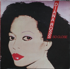 "Diana Ross ""So Close"" poster sleeve cover."