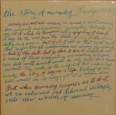 The Story of Moondog with calligraphy by Julia Warhola.