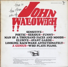 "The cover of ""This Is the Other Side of John Wallowitch""."