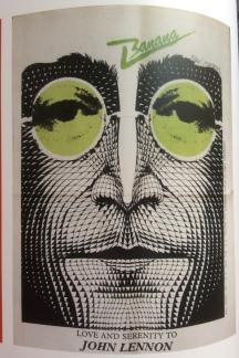 Voormann's portrait of John Lennon.