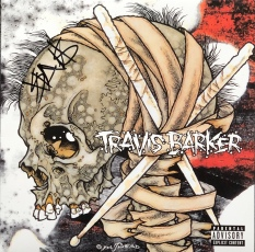 "Travis Barker's ""Give the Drummer Some"" LP cover front."