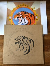 The A3 print and my inital painting of the tiger.