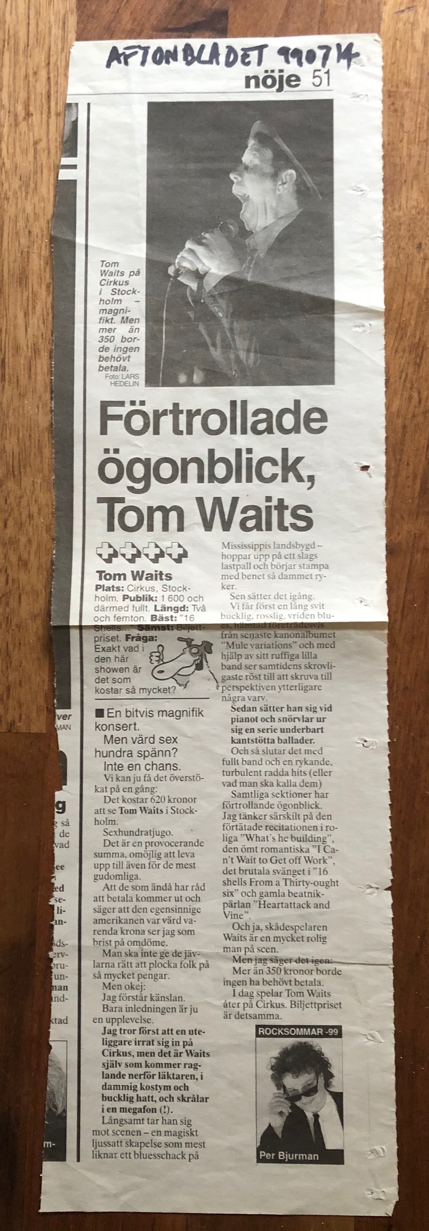Tom Waits review