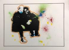 Wedding couple painting.